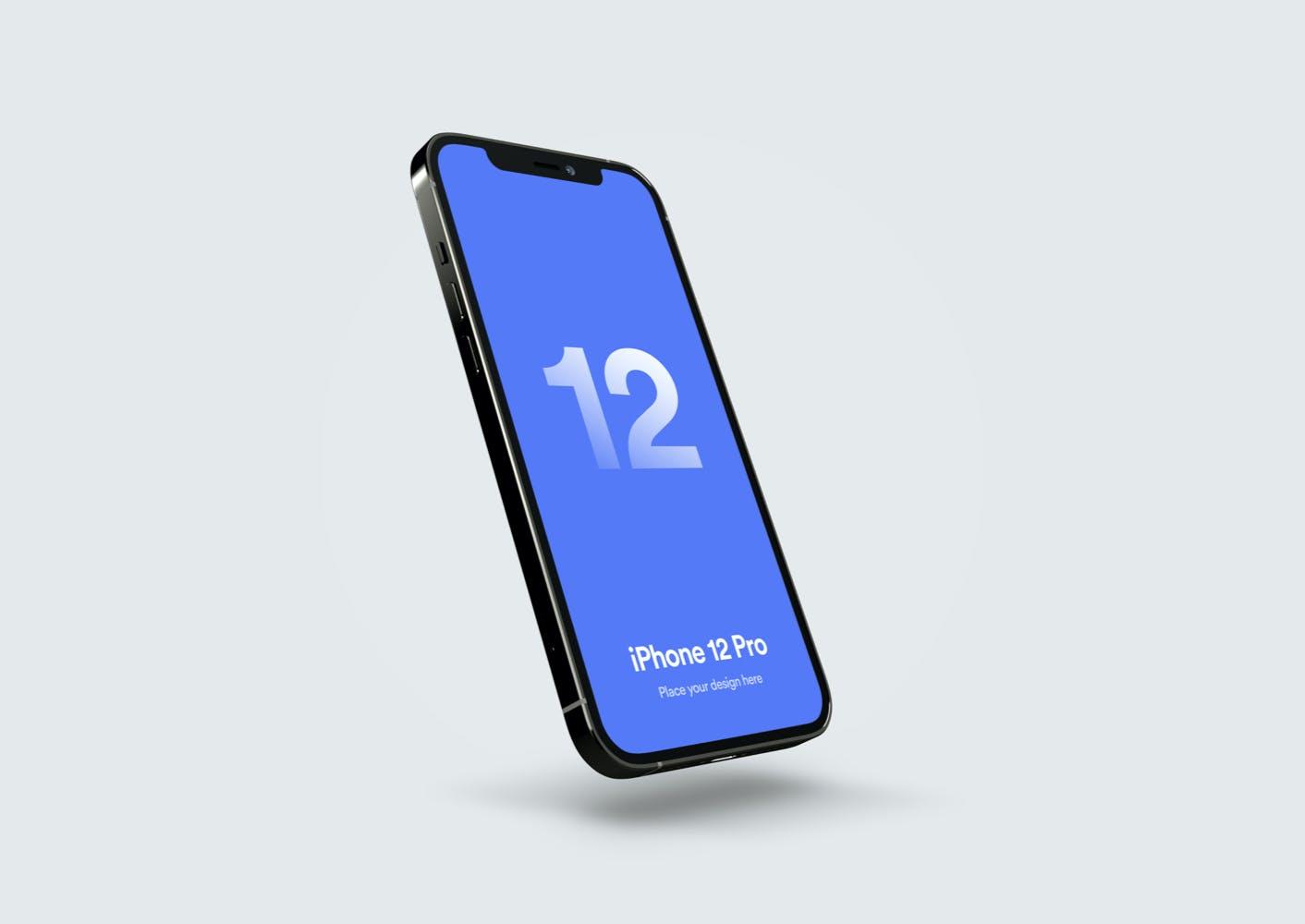 高端iPhone 12 Pro产品UI展示样机mockups Vol 02 designshidai_yj400