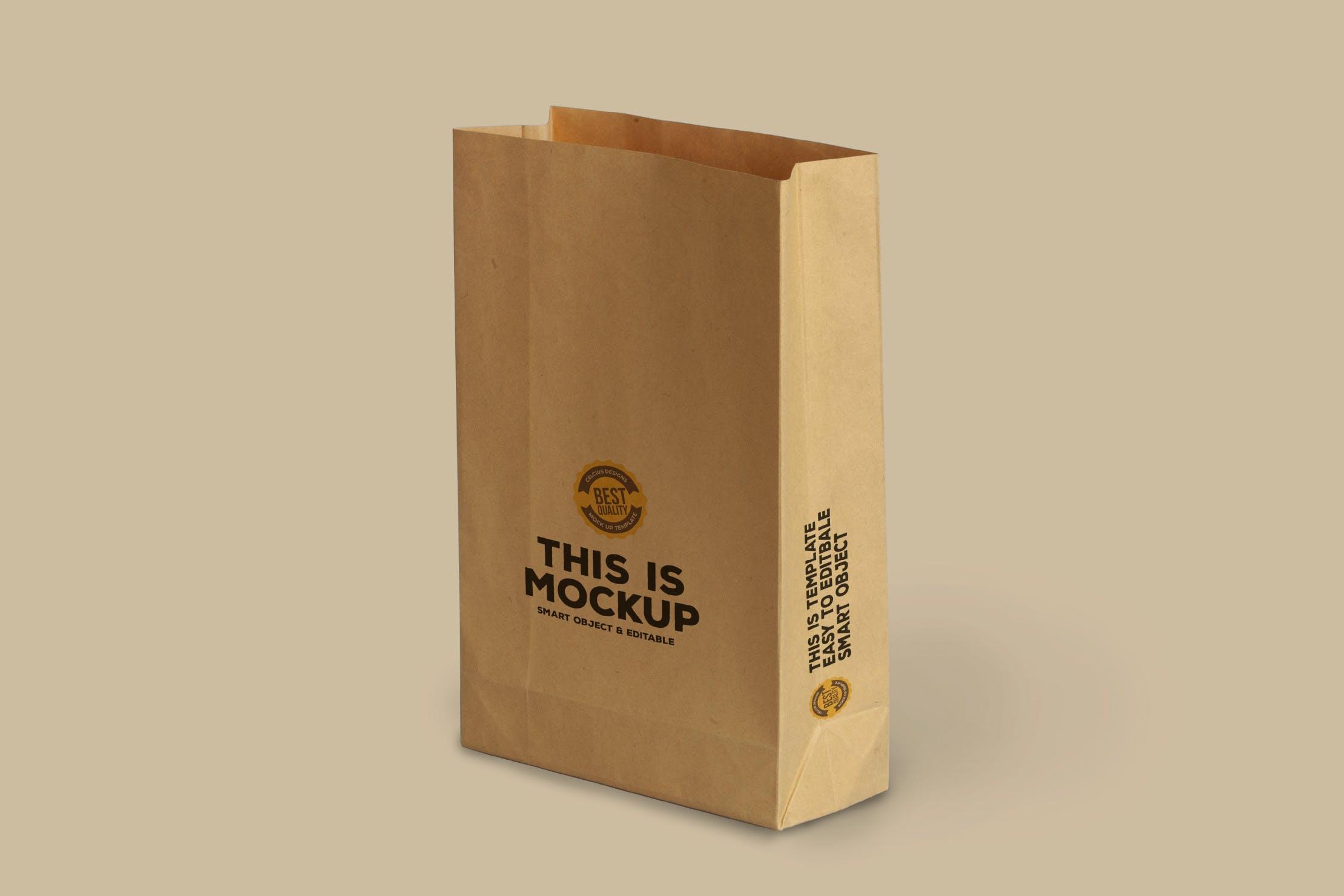 黄色纸袋产品包装模型designshidai_yj404