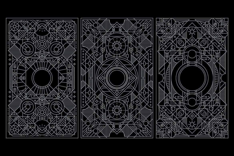 少见稀有的塔罗牌扑克牌抽象矢量背景底纹纹理集合designshidai_beijing90