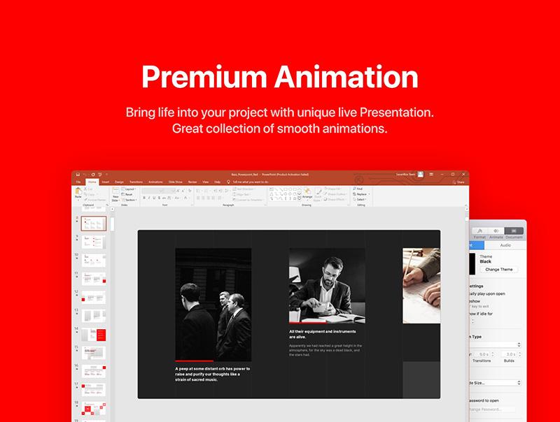 高品质的300+动画幻灯片演示模板designshidai_ppt014