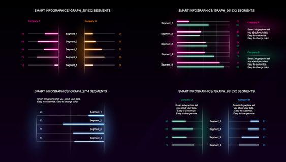 发光的数据可视化信息图表元素ae素材designshidai_video0046