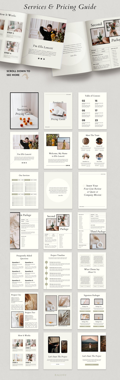 优雅的服务手册&定价指南Canva模板designshidai_zazhi024