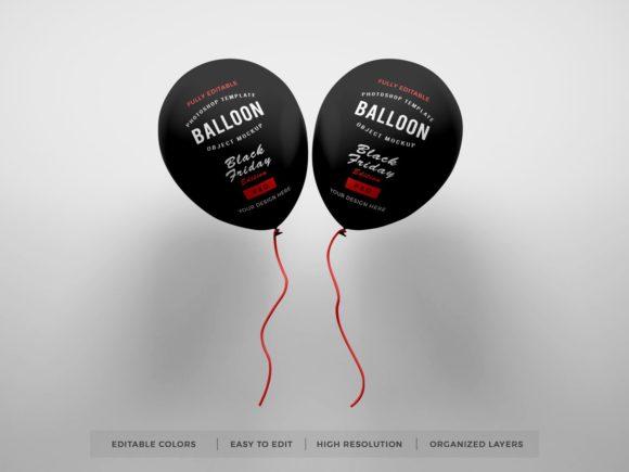 活动派对气球标签设计样机套件designshidai_yj414