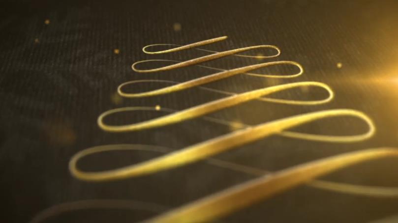 金色优雅元素圣诞问候ae视频模板designshidai_video0007