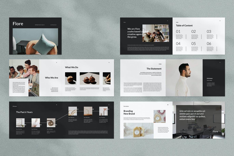 高品质的时尚高端简约多用途品牌手册画册宣传册杂志房地产楼书设计模板designshidai_zazhi030