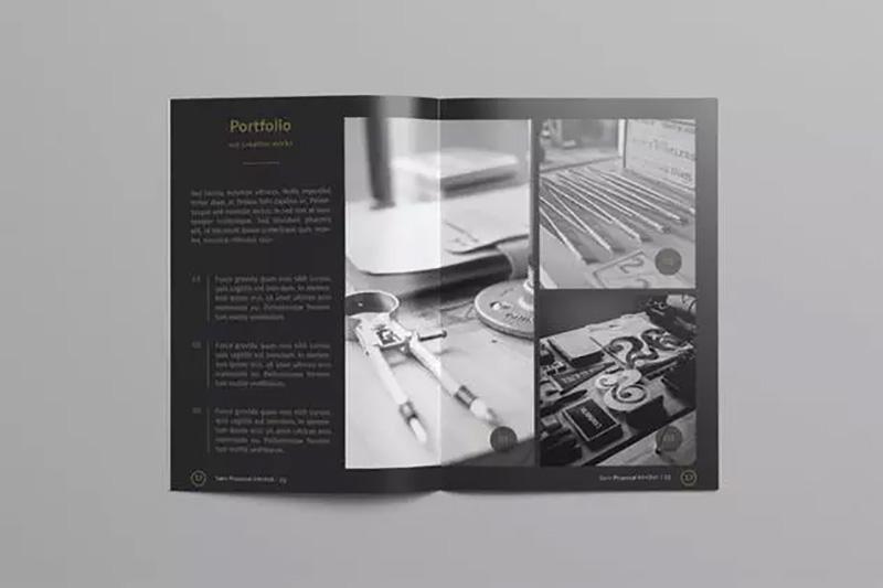 高端版式设计企业标准项目计划书模板designshidai_zhazhi006
