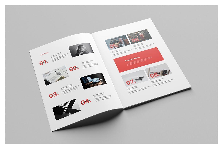 时尚高端简约个人简历手册画册宣传册设计模板designshidai_zazhi021