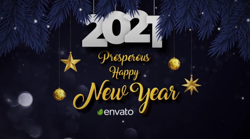 闪光粒子元素2021年圣诞节&新年开场视频ae模板designshidai_video0026