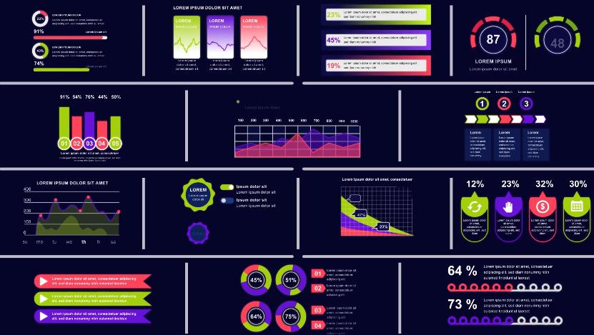 可视化数据统计分析信息图表AE视频模板designshidai_video0074