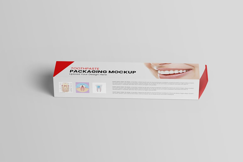 简约好用的牙膏包装盒包装设计VI样机展示模型mockups designshidai_yj419
