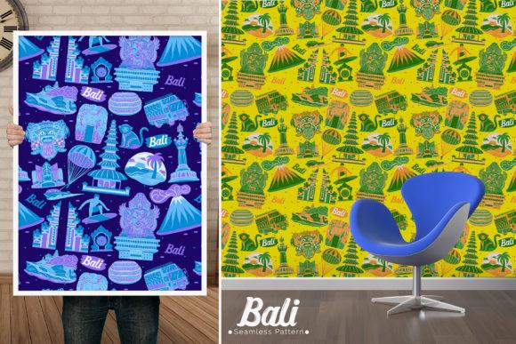 可爱风巴厘岛城市元素无缝图案素材designshidai_beijing102