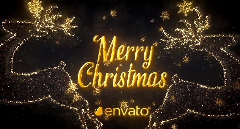 金色闪光粒子圣诞节问候视频AE模板designshidai_video0003
