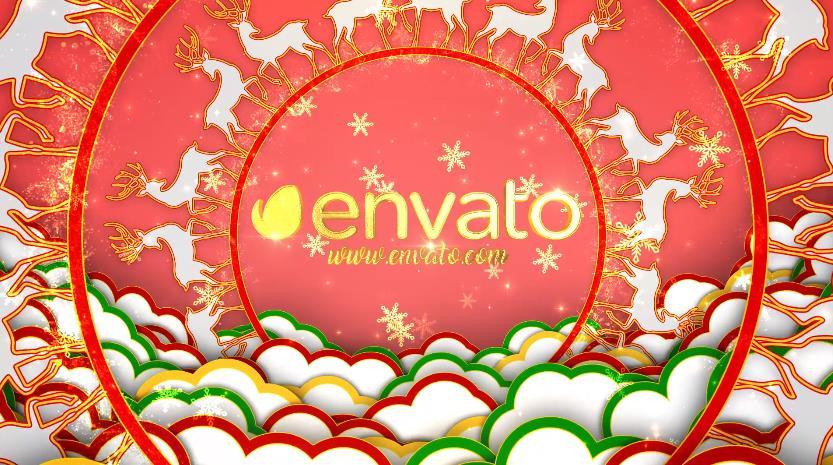 旋转圆环圣诞开场视频AE模板designshidai_video0005