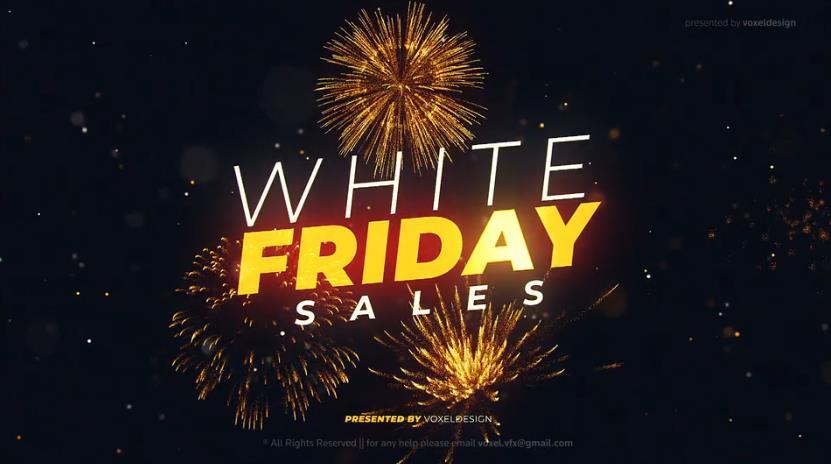 白色星期五促销开场视频ae模板designshidai_video0017