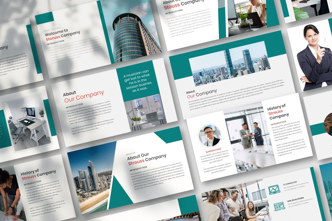 商务风格PPT设计模板designshidai_ppt0124