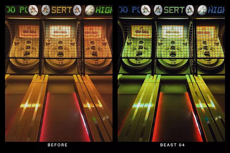 20款霓虹灯光绿城市街景LR照片调色滤镜预设designshidai_Lryushe024