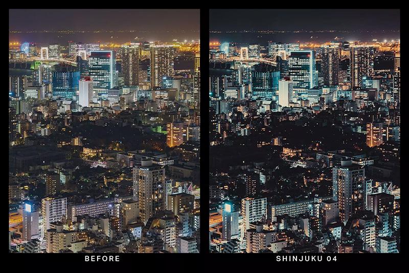 20款霓虹灯光效果繁华城市街道摄影LR预设designshidai_Lryushe034