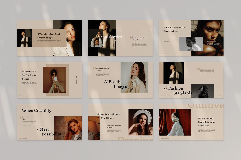 时尚高端清新优雅多用途的极简风格powerpoint幻灯片演示模板designshidai_ppt0130