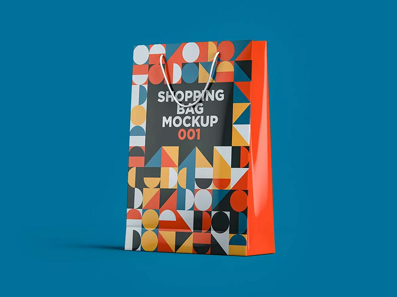 购物袋外观品牌设计样机模板designshidai_yj463