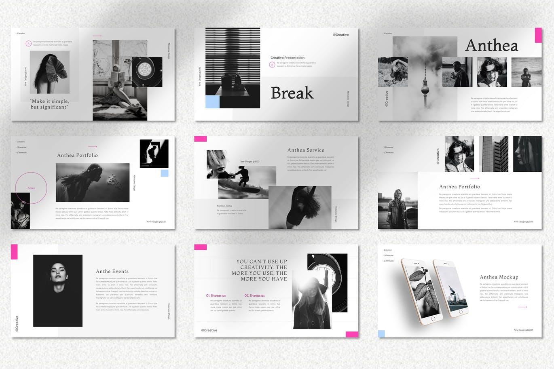 时尚高端简约清新多用途Google Slide谷歌幻灯片演示模板designshidai_ppt091