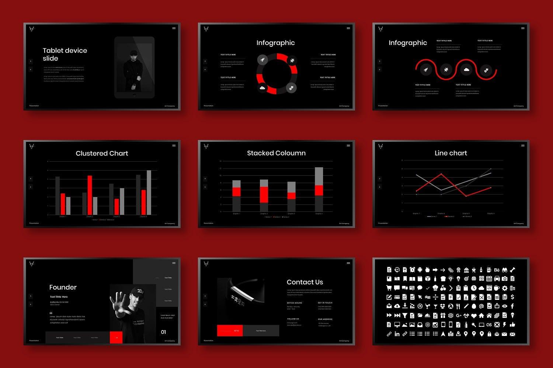 高端精美商务PowerPoint 模板designshidai_ppt0122