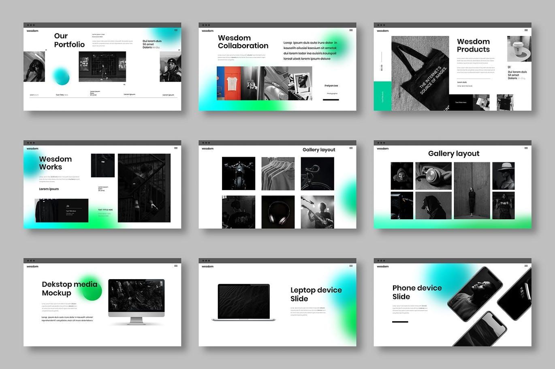 简约时尚高端商业商务powerpoint幻灯片演示模板designshidai_ppt086