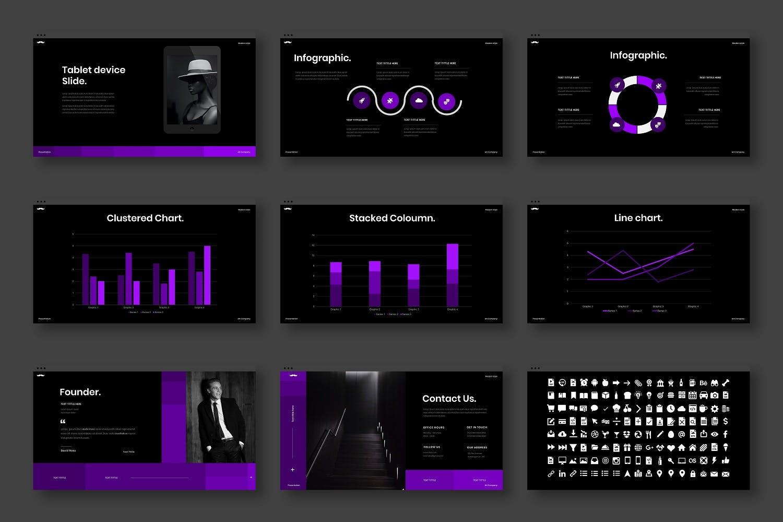 创意结构公司介绍PPT模板designshidai_ppt0131