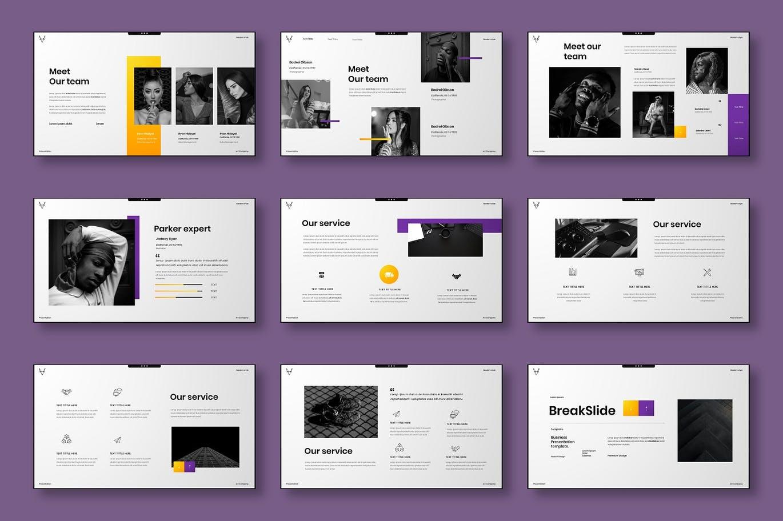 高端时尚多用途的高品质powerpoint幻灯片演示模板designshidai_ppt0139