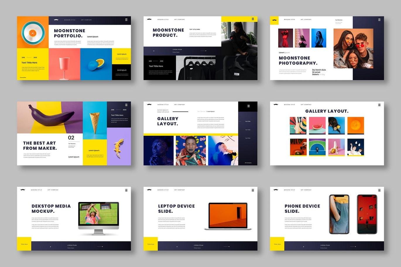 时尚高端专业的高品质商业商务powerpoint幻灯片演示模板designshidai_ppt087