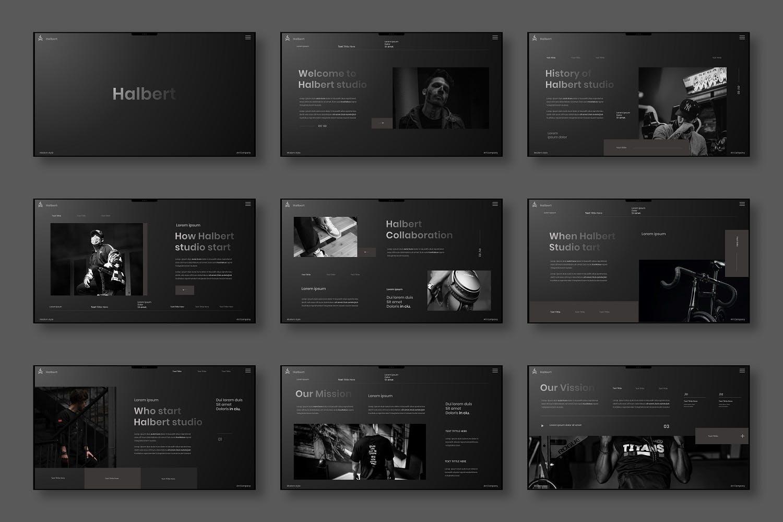 摄影公司创意机构PPT模板designshidai_ppt0111