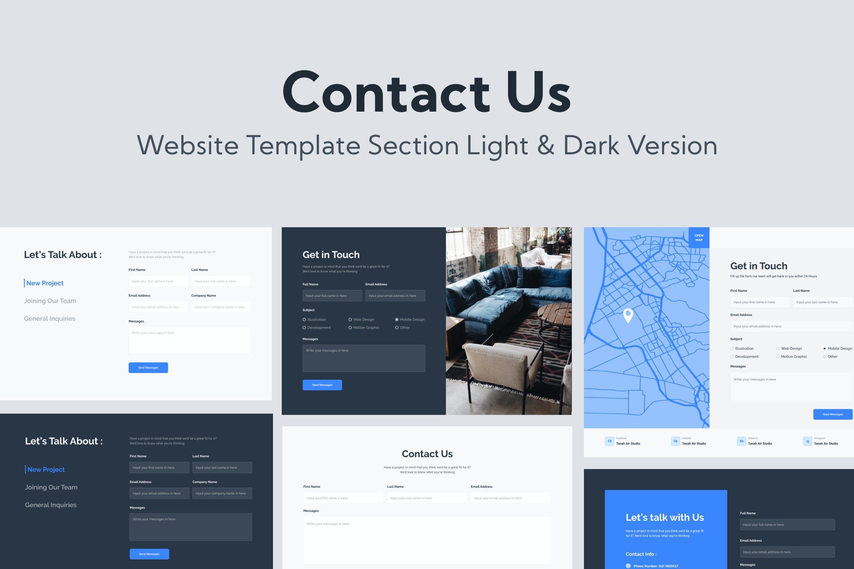 高端网页联系我们模板designshidai_ui148