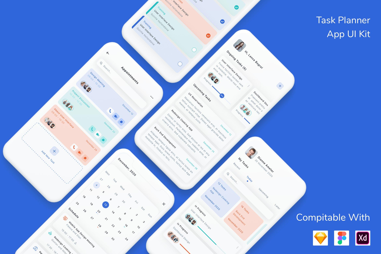 任务计划与管理 App UI Kitdesignshidai_ui154