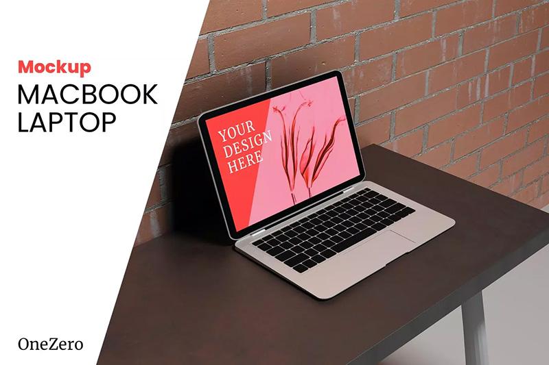 逼真的Macbook笔记本电脑样机designshidai_yj437