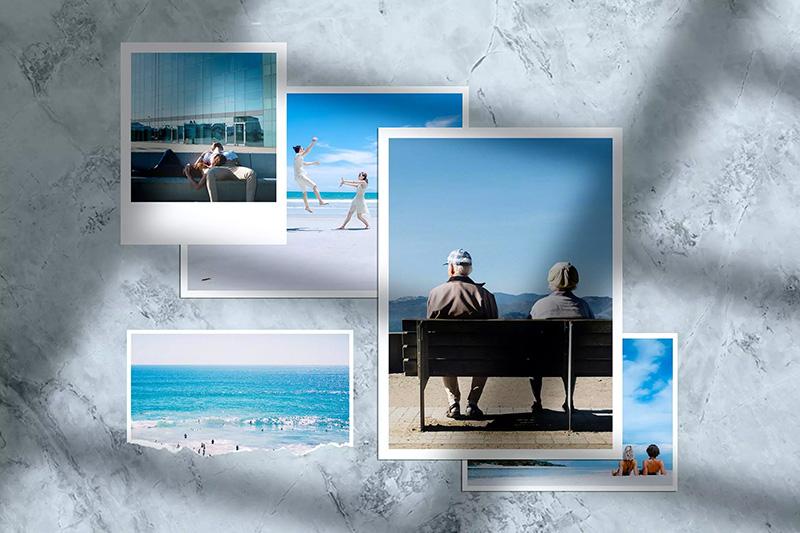 阳光阴影情绪板照片墙样机模板designshidai_yj444