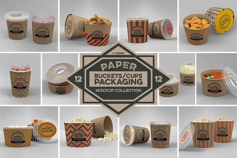 纸桶食品包装设计样机designshidai_yj458