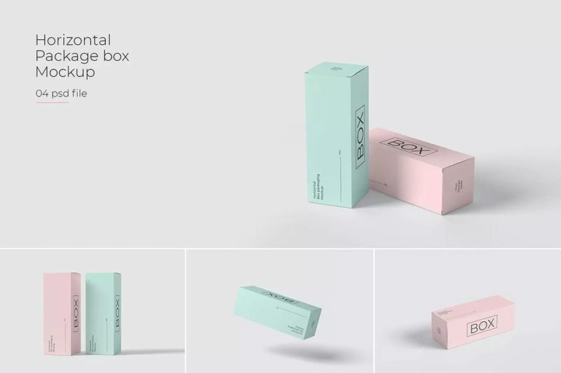 长矩形纸质包装盒样机designshidai_yj466