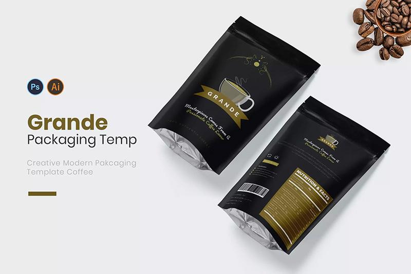 咖啡豆大包装设计样机模板designshidai_yj468