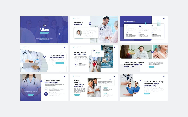 专业的高品质医疗健康powerpoint幻灯片演示模板designshidai_ppt081