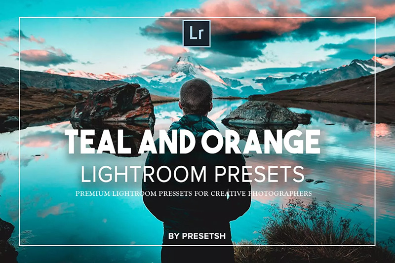 唯美风橙色&青色色调照片滤镜Lightroom预设designshidai_Lryushe021