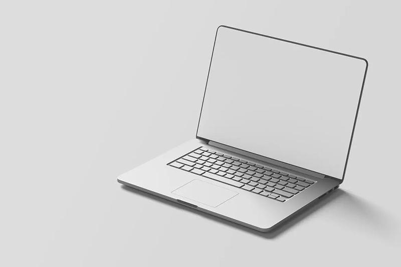 逼真的苹果笔记本电脑样机模板designshidai_yj478