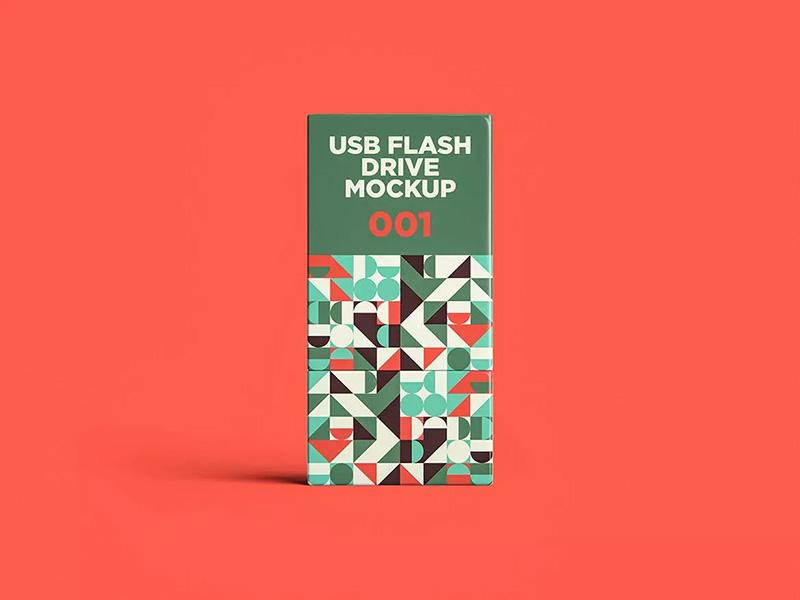 USB闪存盘设计样机模板designshidai_yj443