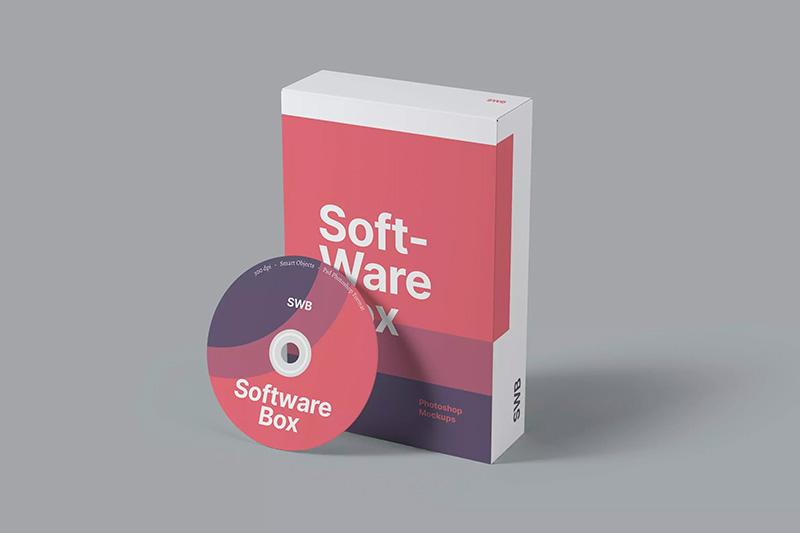 电脑软件纸盒包装设计样机模板designshidai_yj464