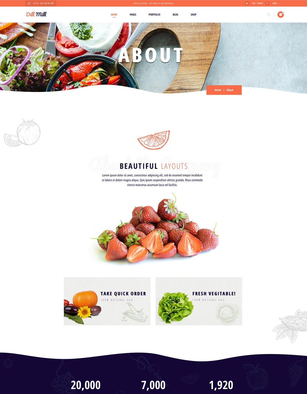 有机食品生鲜电商官网模板下载designshidai_ui151
