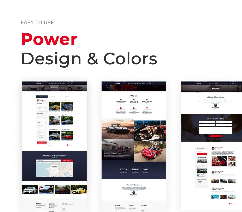 汽车租赁官网UI网页设计模板designshidai_ui153