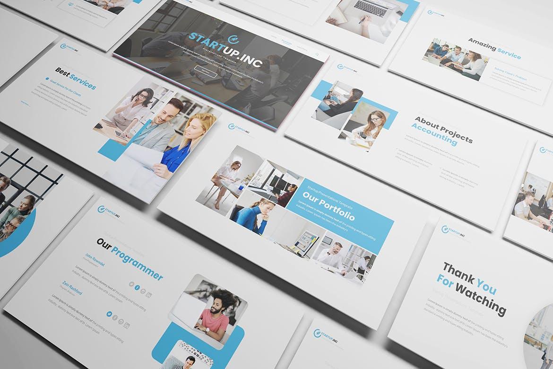 时尚高端简约清新多用途的powerpoint幻灯片演示模板designshidai_ppt096