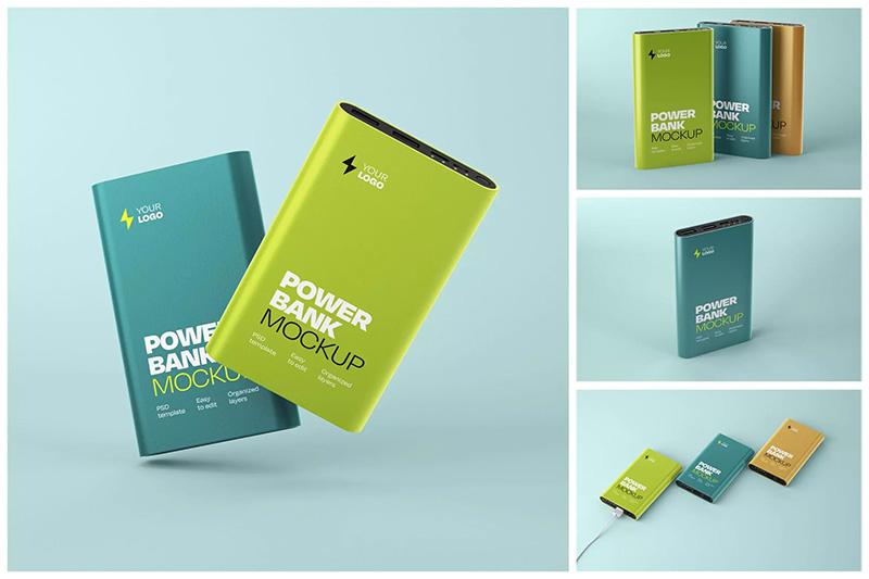 电子产品移动电源外观&品牌设计样机集designshidai_yj449