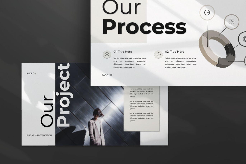 专业、超现代和独特的设计的PPT模板designshidai_ppt0117
