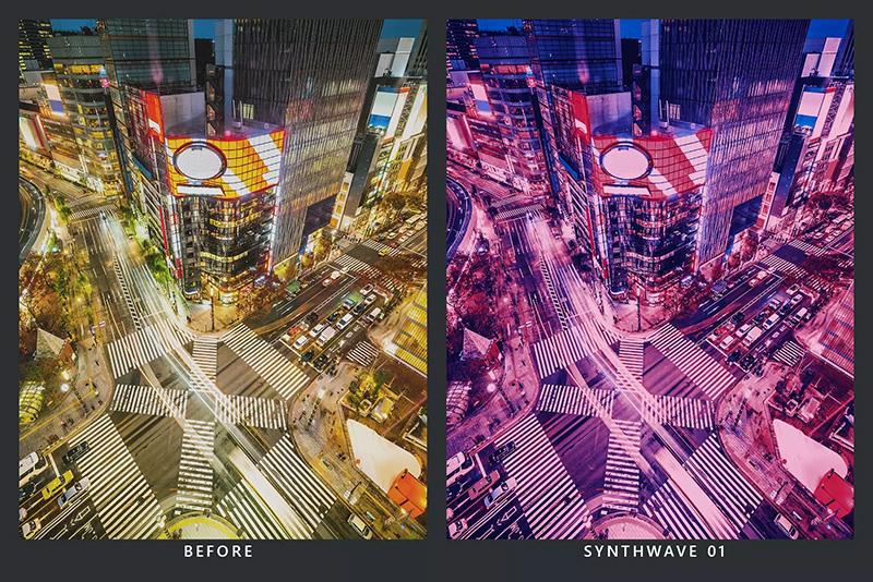 """神秘色彩20款""""反乌托邦""""未来主义外观摄影后期LR预设designshidai_Lryushe007"""