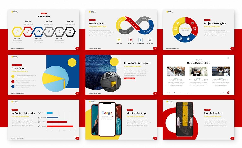 带有SWOT分析的高品质多用途powerpoint幻灯片演示模板designshidai_ppt073