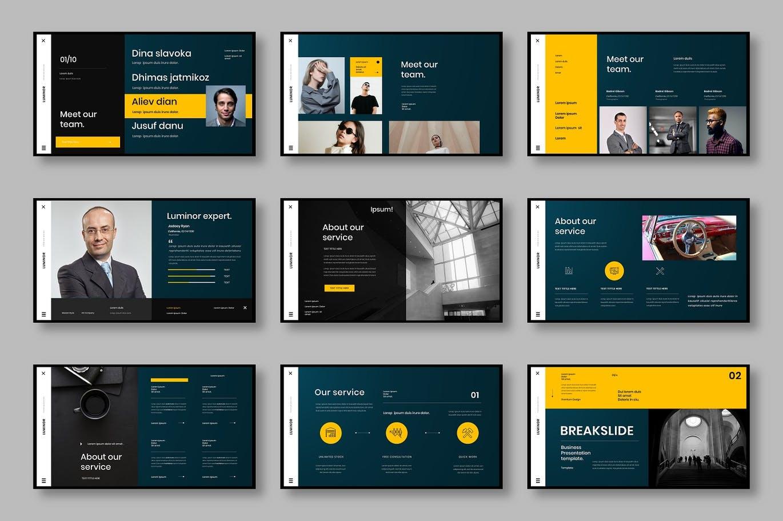 时尚高端专业严谨的高品质商业商务powerpoint幻灯片演示模板designshidai_ppt0101